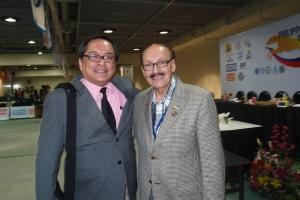 Author with FCI President Rafael De Santiago
